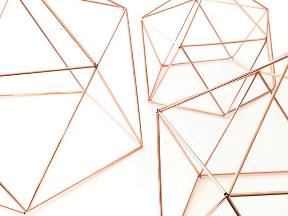 Geometric Dome - Available in 4 Sizes and 4 Metallic Finishes