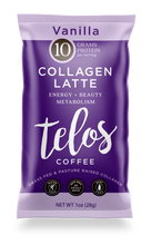 Collagen Coffee Latte - Vanilla (8 packets)