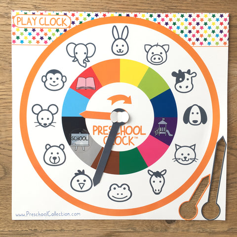 Play Clock with activity stickers - Preschool Watch & Clock - Preschool Collection
