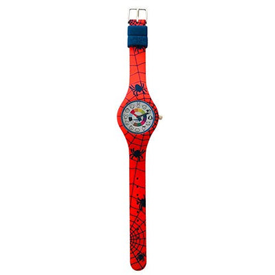 Spider Silicone Preschool Watch Flat - Spiderman -  Toddler & Kids Time Teaching watch - preschool collection