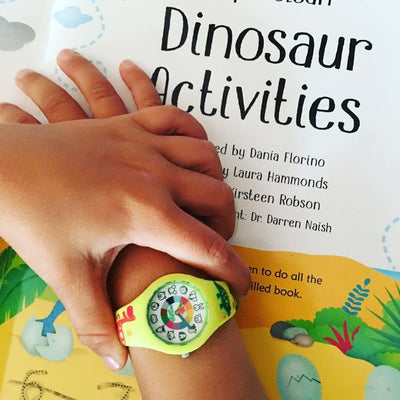 Dinosaur Silicone Preschool Watch - Toddler & Kids Time Teaching watch - Wrist -  preschool collection