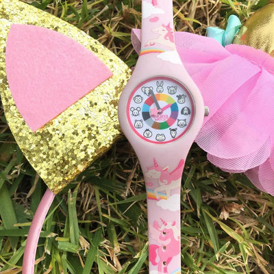 Unicorn Silicone Preschool Watch - Toddler & Kids Time Teaching Watch - Costume - Preschool Collection