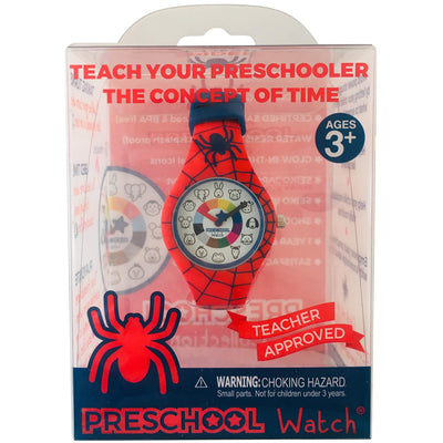 Spider Silicone Preschool Watch Packaging - Spiderman -  Toddler & Kids Time Teaching watch - preschool collection