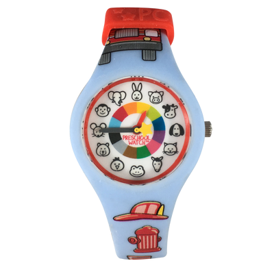 Firefighter Preschool Watch - Toddler & Kids time teaching watch - Preschool Collection