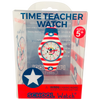 America Silicone School Watch Packaging - Children Kids Time Teacher watch - Preschool Collection