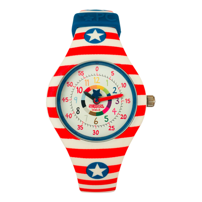 America Silicone School Watch - Children Kids Time Teacher watch - Preschool Collection