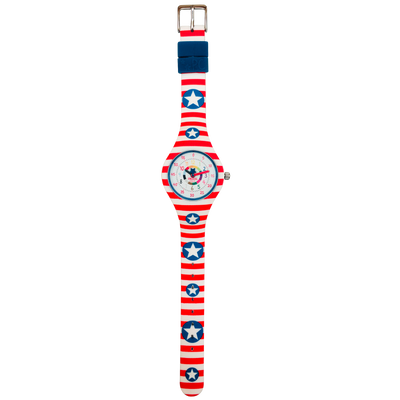America Silicone School Watch Flat - Children Kids Time Teacher watch - Preschool Collection