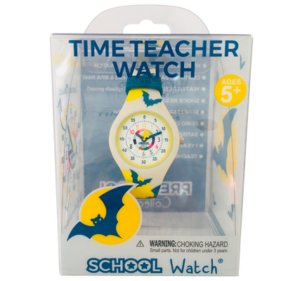 Bat Silicone School Watch Packaging - Children Kids Time Teacher watch - Preschool Collection