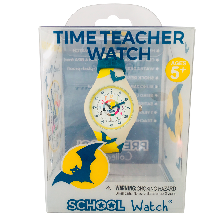 Bat Silicone School Watch - Children Kids Time Teaching watch - Preschool Collection