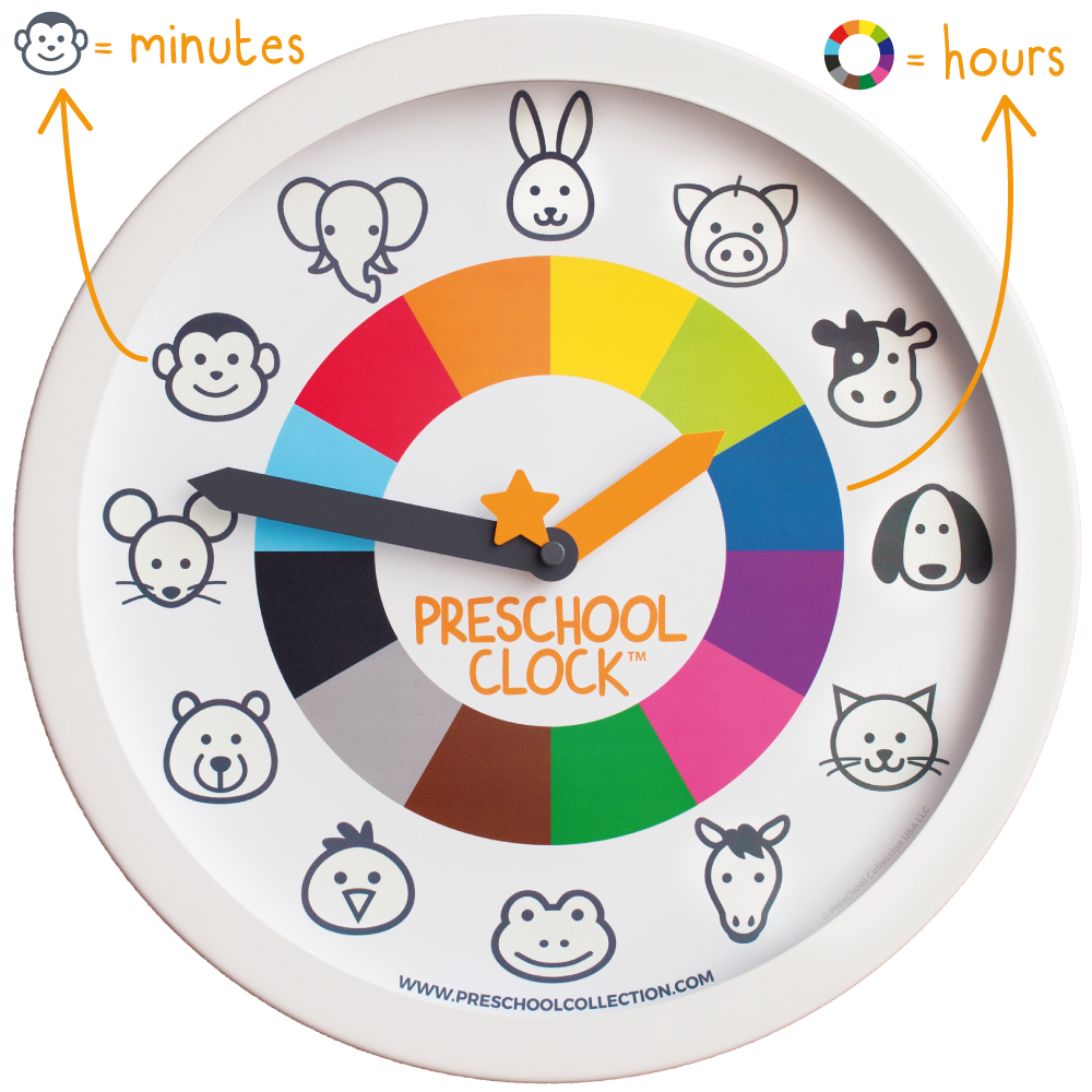 Preschool Clock - Kids Wall Clock - Preschool Collection