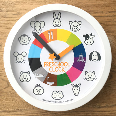 Activity Stickers - Time Learning Clock - Preschool Clock - Preschool Collection