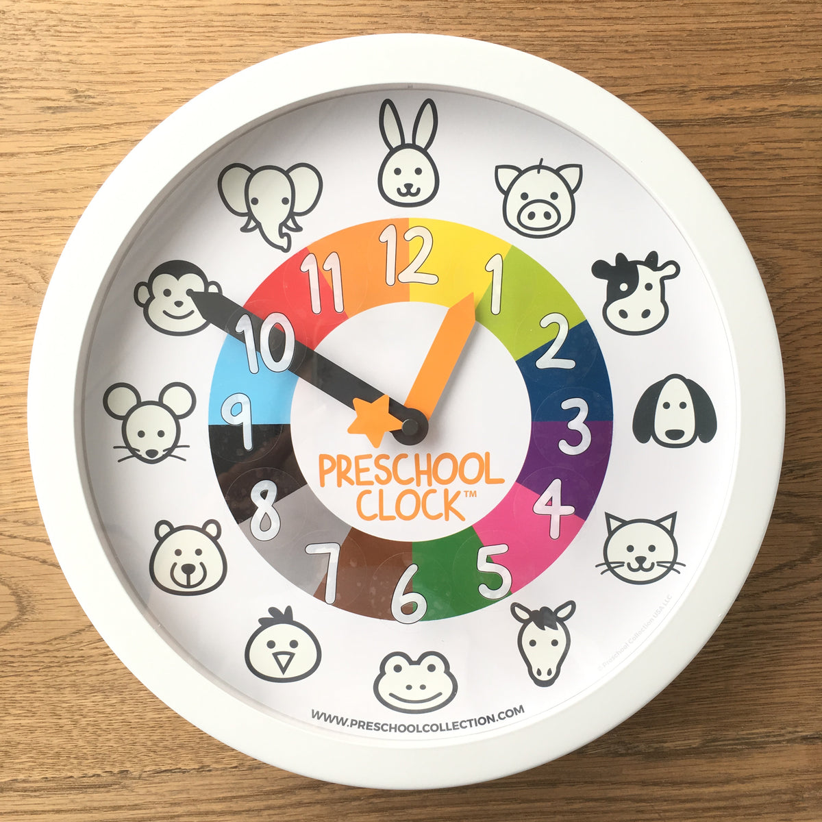 Hour Figures Stickers - Time Learning Clock - Preschool Clock - Preschool Collection