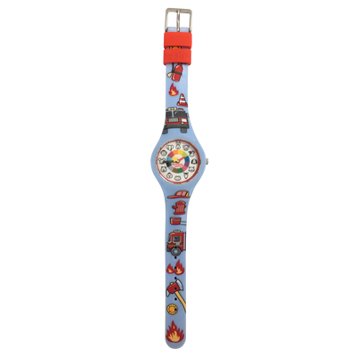 Firefighter Preschool Watch Flat - Toddler & Kids time teaching watch - Preschool Collection
