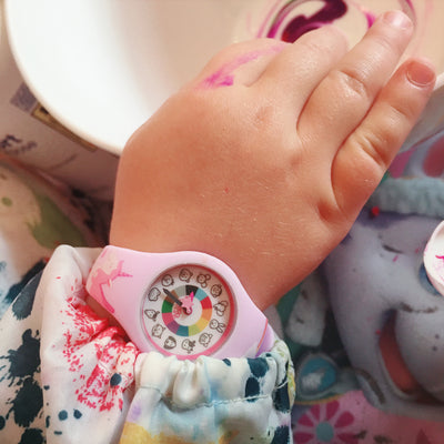 Unicorn Silicone Preschool Watch - Toddler & Kids Time Teaching Watch - Wrist - Preschool Collection