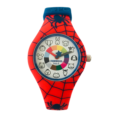 Spider Silicone Preschool Watch - Spiderman -  Toddler & Kids Time Teacher watch - preschool collection