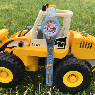 Truck Silicone Preschool Watch Tractor - Toddler & Kids Time Teaching Watch - Preschool Collection