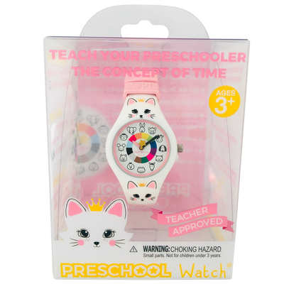 Kitty Silicone Preschool Watch packaging - Toddler & Kids Time Teaching Watch - Preschool Collection