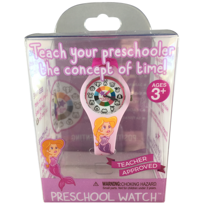 Mermaid Silicone Preschool Watch Packaging - Toddler & Kids Time Teaching Watch - Preschool Collection