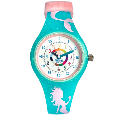 Mermaid Silicone School Watch - Children Kids Time Teacher watch - Preschool Collection