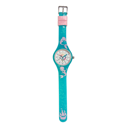 Mermaid Silicone School Watch Flat - Children Kids Time Teacher watch - Preschool Collection