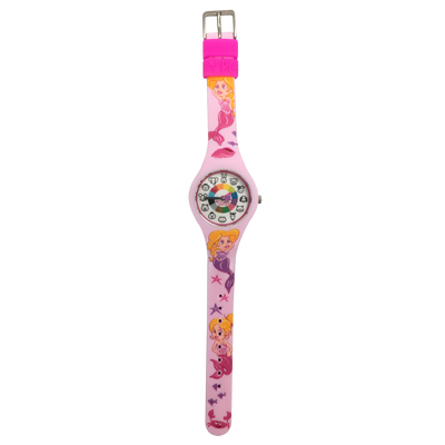 Mermaid Silicone Preschool Watch Flat - Toddler & Kids Time Teaching Watch - Preschool Collection