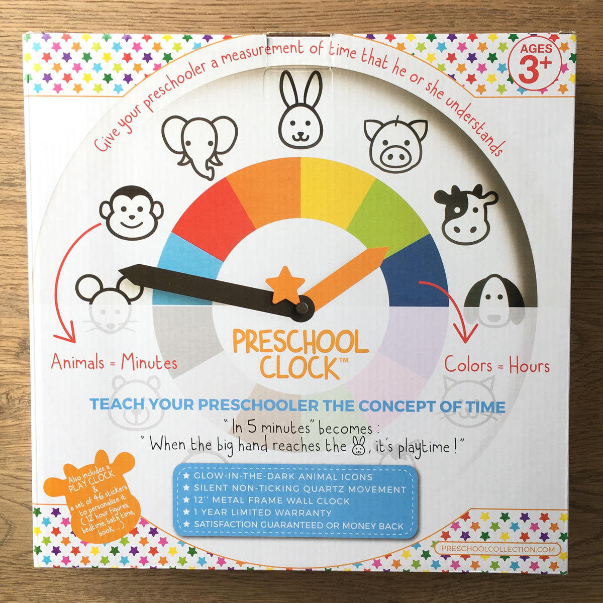 Packaging Front Preschool Wall Clock - Time Learning Clock - Preschool Collection