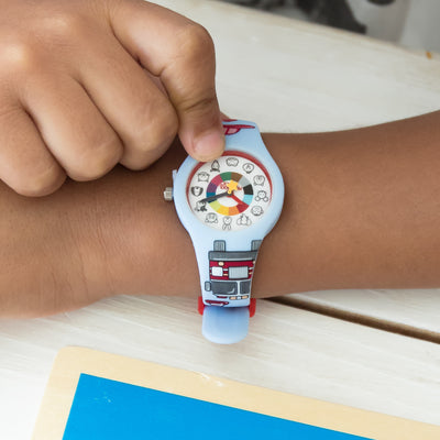 Firefighter Preschool Watch - Toddler & Kids time teaching watch - Wrist - Preschool Collection