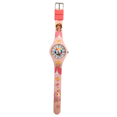 Princess Preschool Watch Flat - Toddler & Kids Time Teaching Watch - Preschool Collection