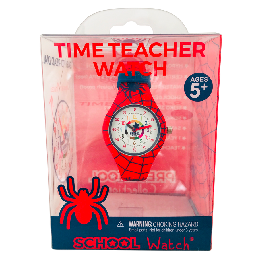 Spiderman Silicone School Watch - Children Kids Time Teacher watch - Preschool Collection