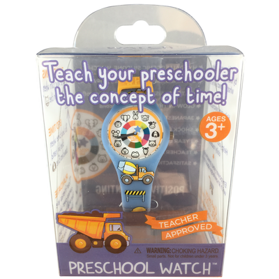 Truck Silicone Preschool Watch Packaging - Toddler & Kids Time Teaching Watch - Preschool Collection