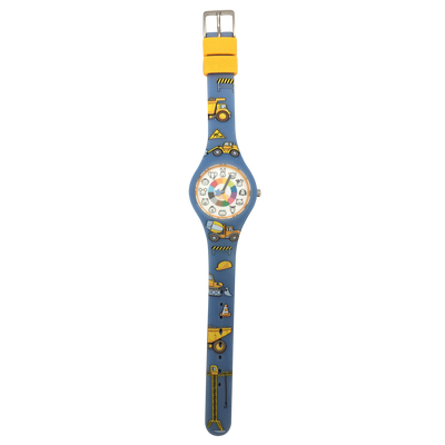 Truck Silicone Preschool Watch Flat - Toddler & Kids Time Teaching Watch - Preschool Collection