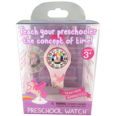 Unicorn Silicone Preschool Watch packaging - Toddler & Kids Time Teaching Watch - Preschool Collection
