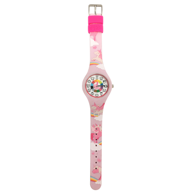 Unicorn Silicone Preschool Watch Flat - Toddler & Kids Time Teaching Watch - Preschool Collection