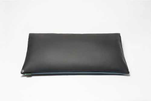 Black/Blue 2-Tone Pillow Cover