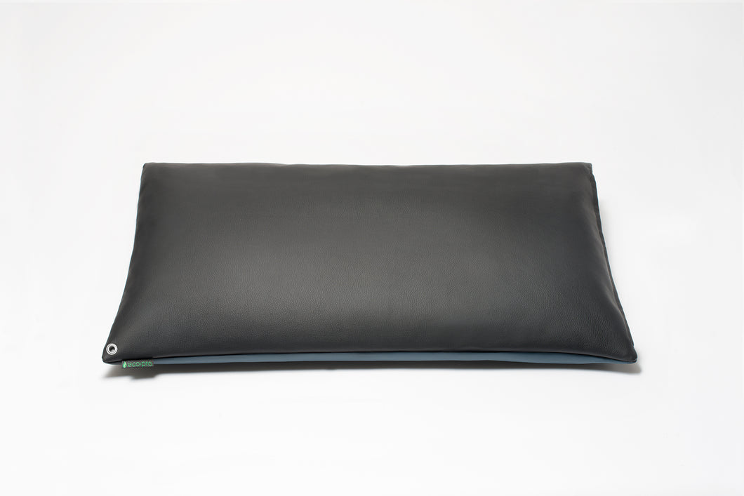Black/Blue Two-Tone Pillow Cover