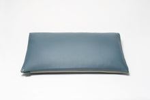 Stone Grey/Harbor Blue 2-Tone Pillow Cover