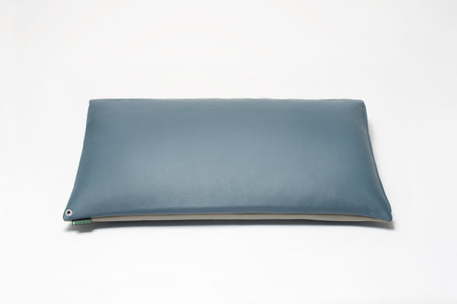 Blue/Grey Two-Tone Pillow Cover