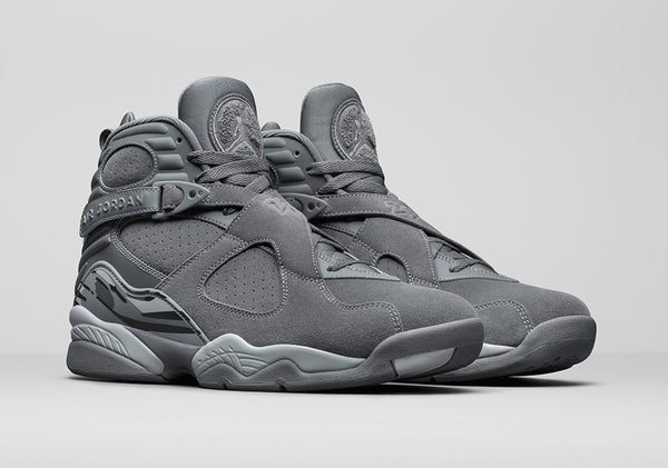 New Jordans Released This Week, Retro Air Jordan 8 Cool Grey.