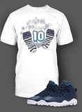 T Shirt To Match Retro Air Jordan 10 LA Shoe