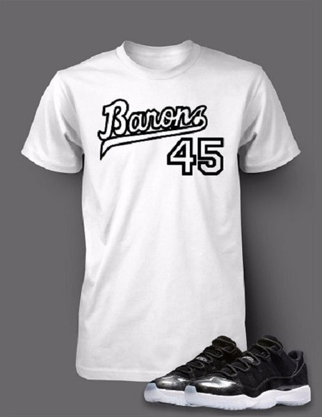 753d327acb4 Graphic T Shirt To Match Retro Air Jordan 11 Barons Shoe – Vegas Big and  Tall