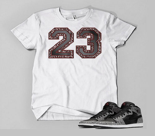 T Shirt To Match Retro Air Jordan 1 High Elephant Print Shoe