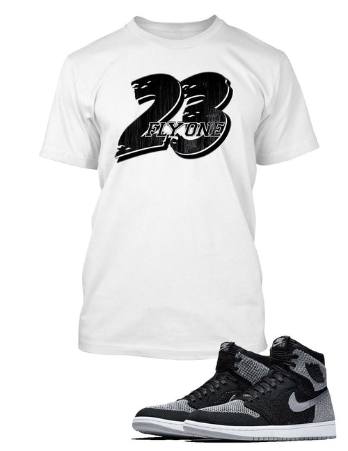 23, Fly One T Shirt to Match Retro Air Jordan 1 Shoe