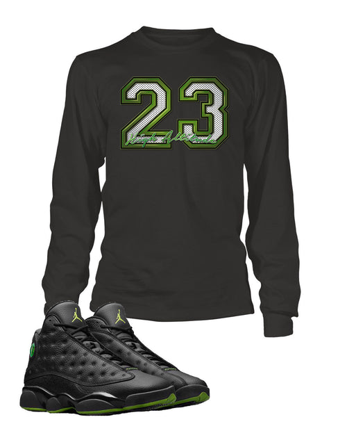23 Graphic T Shirt to Match Retro Air Jordan 13 High Altitude Shoe