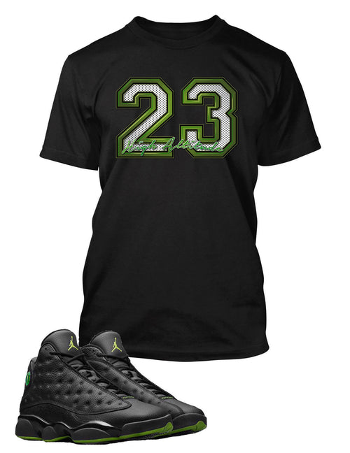 23 T Shirt to Match Retro Air Jordan 13 High Altitude Shoe
