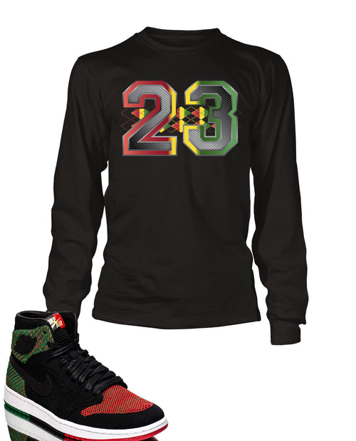 23 Graphic T Shirt to Match Retro Air Jordan 1 High Flynit BHM Shoe