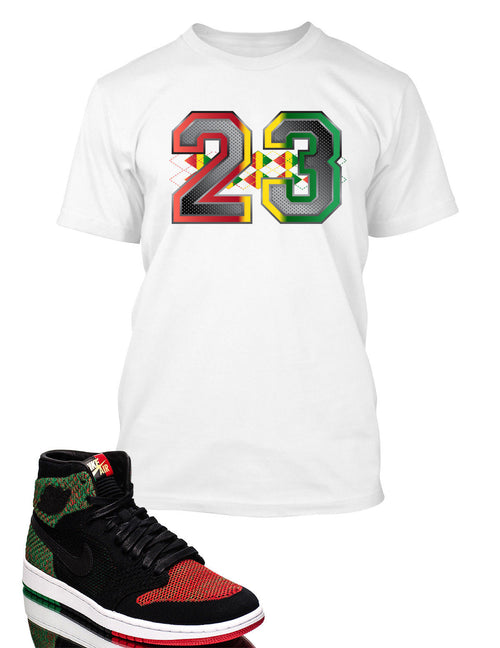 23 T Shirt to Match Retro Air Jordan 1 High Flynit BHM Shoe