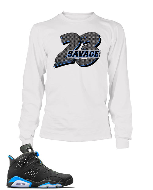 23 Savage Graphic T Shirt to Match Retro Air Jordan 6 Shoe