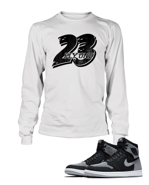 23, Fly One Graphic T Shirt to Match Retro Air Jordan 1 High Shoe