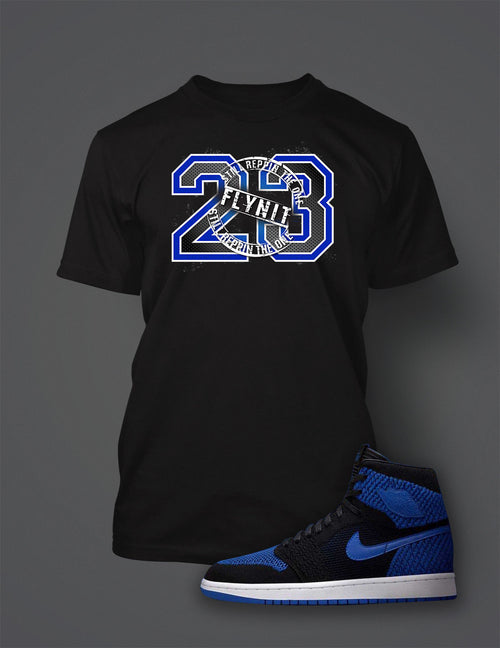 Graphic 23 T Shirt To Match Retro Air Jordan 1 Flynit Royal Shoe