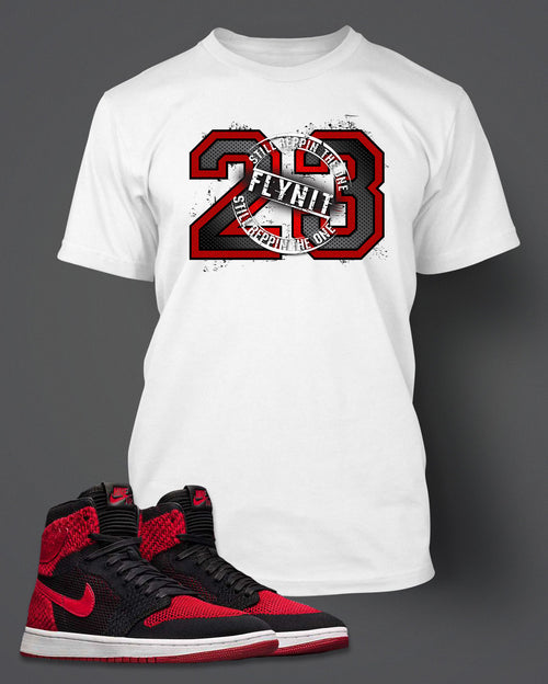 New Graphic 23 T Shirt To Match Retro Air Jordan 1 Flynit Shoe